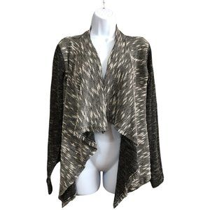 Suzy Shier Textured Cascade Front Cardigan